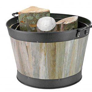 Log Half Barrel